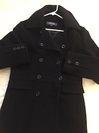 women's black double-buttons trench coat Gaithersburg, 20879