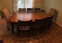 Rectangular brown wooden table with six chairs dining set Toms River, 08753