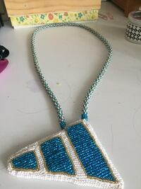 Blue and white beaded necklace Edmonton, T6E 3H6