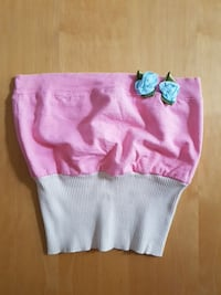 Pretty tube top. Pink with cream and blue flowers  Edmonton, T5Y 2P2