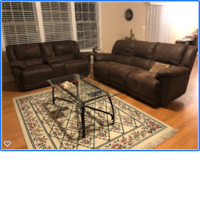 Recliners Sofa and Love Seat.  CHARLOTTE