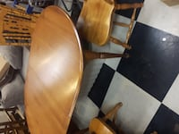 Antique Table and Chairs null
