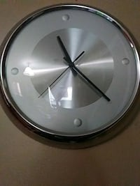 round silver-colored analog wall clock Nashville, 37217