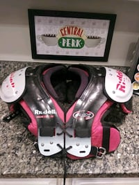 "Riddell EVX 18Y football shoulder pads Boys Youth small 13"" red black. Gaithersburg, 20886"