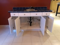 Cabinet + faucet + sink+ counter+ polished nickel knobs  Montréal, H1E 4R1