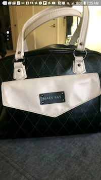 white and black leather tote bag Dover, 07801