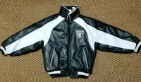 NFL Size small 8 Oakland Raiders Sports Jacket Leather starter coat