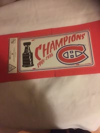 1985/86 MONTREAL CANADIENS STANLEY CUP LICENCE PLATE  Thunder Bay, P7E 6K3