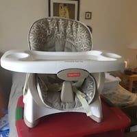 Baby high chair with detachable tray .. fits on any chair makes any chair a high chair or booster seat at your table . Like new Virginia Beach, 23451