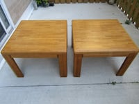 2 Solid Wood End Tables Burlington