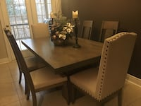 Rectangular brown wooden table with six chairs dining set Barrie, L4N 2N6