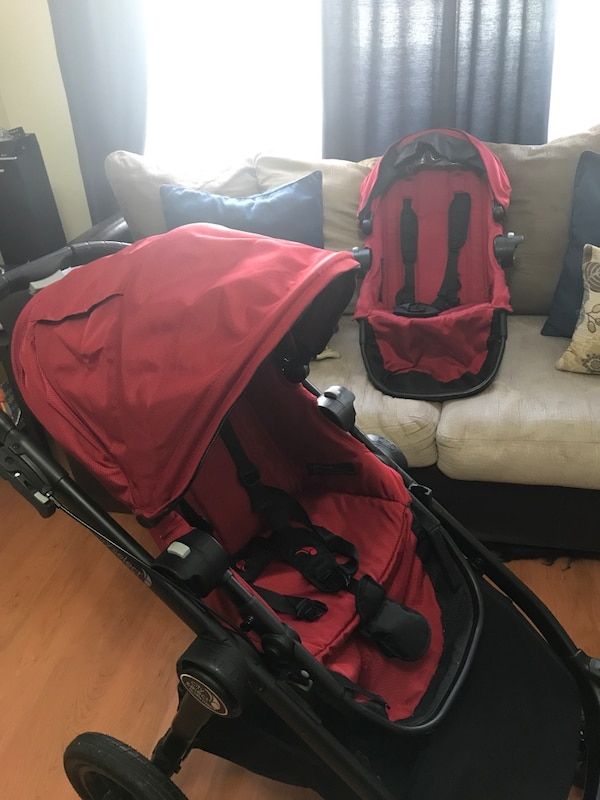 Baby Jogger City Select Double Stroller W Extra Seat
