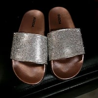 Pink Rhinestone Slides by Soda Rosamond, 93560