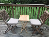 Two Outdoor chairs and small table (pickup only from Great Falls VA) Great Falls, 22066