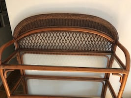 Wicker Shelf / bar