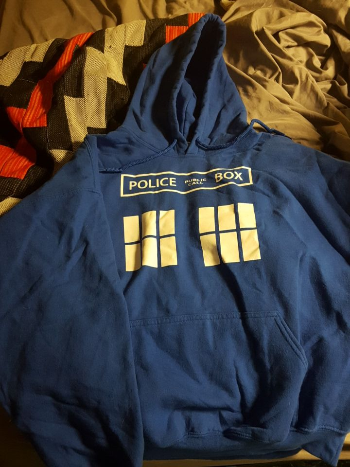 blue Police Box (Doctor Who) pull over hoodie