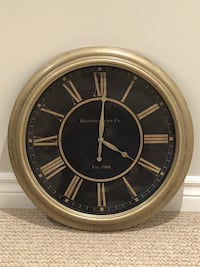 Round black and brown analog wall clock Vaughan, L4J 9H7