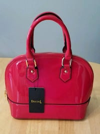 NEW/TAGS: BeCool' red, patent handbag w/gold tone  Maple Valley, 98038