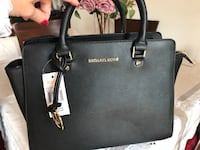 Tote bag in pelle michael kors nera