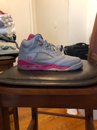 Gray and pink Jordan 5s  Mount Rainier