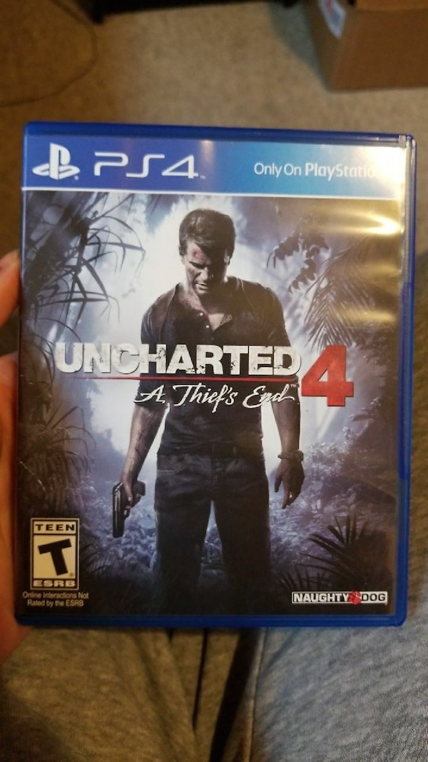 Uncharted 4 A thief's End PS4 game case