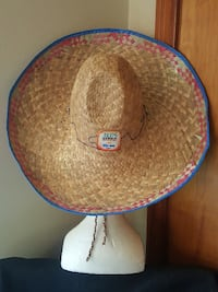 """Collectable SOMBRERO ... Business Advertising  Julio's Bar & Grill/CORONA Beer  Excellent condition Approx 18"""" across   Pick up in Edmonton, near the Kingsway area.  NO holds NO delivery  EDMONTON"""