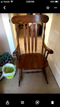 brown wooden windsor rocking chair Calgary, T3G 5X5