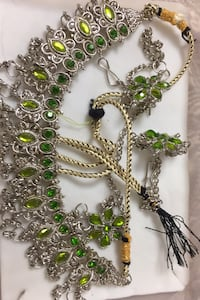 Green and lime necklace set