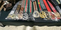 black and red leather belts Toronto, M3J 3T6