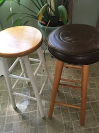two brown wooden bar stools Springfield, 22153