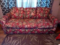 red and brown floral fabric sofa Pleasant Valley
