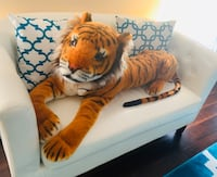 Tiger Giant Stuffed Animal is a realistic-appearing plush tiger. Potomac, 20854