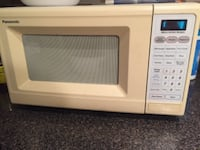 white and gray microwave oven