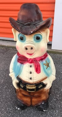 1950's chalkware sheriff piggy bank Clearview, L0M 1S0