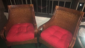 Pier 1 imports rettan chairs and cushions