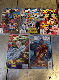 Marvel comic books.  X-force and iron man. Mint condition   London, N5Y 4A6