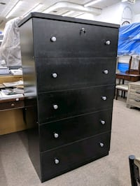 Black 5 drawer jumbo chest College Park