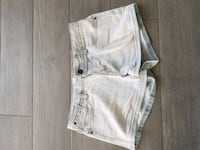 short court en jean beige