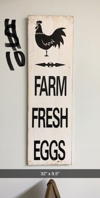 Farm Fresh Eggs Rustic Sign Brandon, 39042