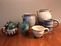 Handmade pottery set of six Urbana, 21704