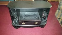Black wooden tv stand entertainment center wood Westerville, 43081