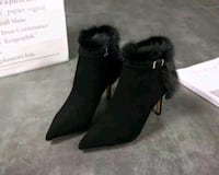 GUCCI leather and fur boots Chicago