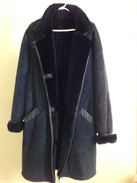 Suede coat dark navy