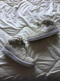 Cream Suede Air Force One Mid-tops Ames, 50014