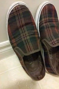 Canvas slip on shoes  size 9