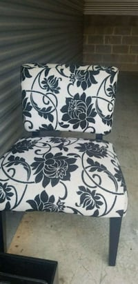 white and black floral padded chair Lawrenceville