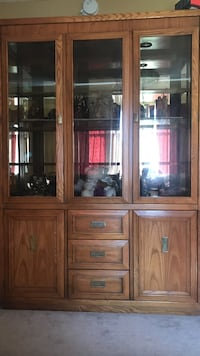 Brown wooden display cabinet Campbell, 95008