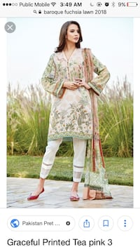 Pakistani lawn embroidered designer