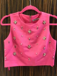 pink sleeveless studded crop top Toronto, M5S 2R4