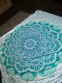 teal and white floral textile Inglewood, 90301